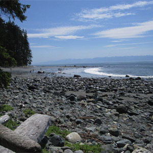 China Beach past Sooke